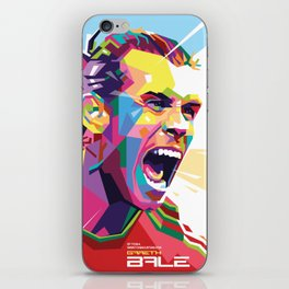 Gareth Bale in Colorful WPAP iPhone Skin