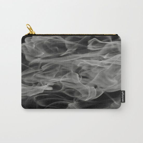 Whispers - Black and white abstract Carry-All Pouch