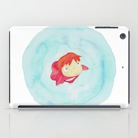 ponyo iPad Cases featuring Ponyo Watercolor by foreverwars