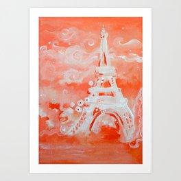 Paris Pink Art Print