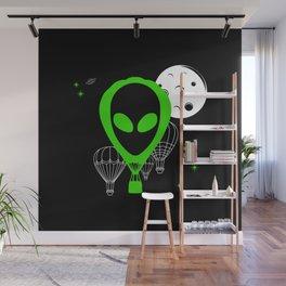 UFO Balloon Wall Mural
