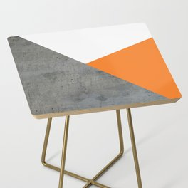 Concrete Tangerine White Side Table