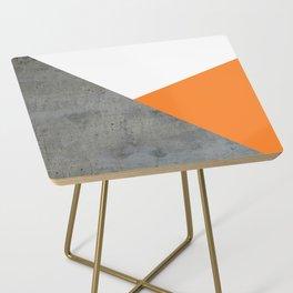 Concrete Tangerine White Side Table