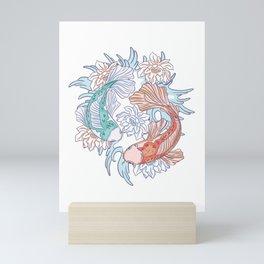 Yin and Yang Koi Fish Mini Art Print