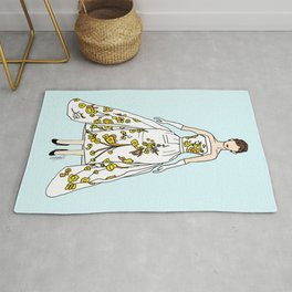 Audrey Vintage Retro Fashion 2 Rug
