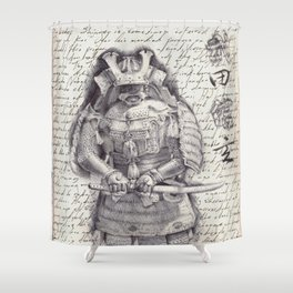 Samurai Observational Drawing Shower Curtain