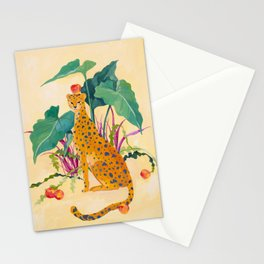 Cheetah and Apples Stationery Cards