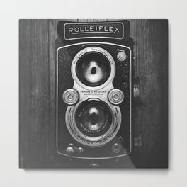 The King of Cameras - The Rolleiflex Metal Print