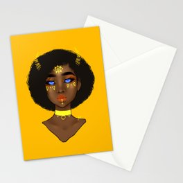 Yellow Demon Stationery Cards