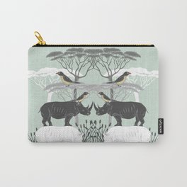Rhino and friends do Lunch Carry-All Pouch