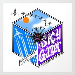 SKY GAZER Art Print