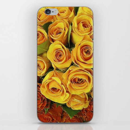 A Case of LOVE! (hot roses) iPhone & iPod Skin
