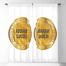 Abraham Lincoln Metal Stamp Blackout Curtain