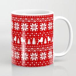 Standard Poodle Silhouettes Christmas Sweater Pattern Coffee Mug