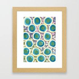 Four Directions beneath Circles Pattern Framed Art Print