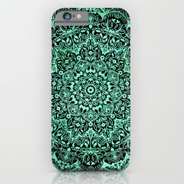 Mandala emerald green iPhone Case