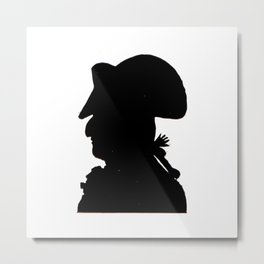 Pirate silhouette Metal Print