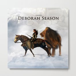 Deborah Season -Armored - David Munoz Prophetic Art Metal Print