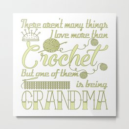 Crochet Grandma Metal Print