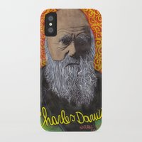 darwin iPhone & iPod Cases featuring Charles Darwin by Ibbanez