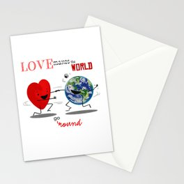 Love makes the world go 'round Stationery Cards