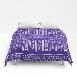 Bogolan pattern blue Comforters