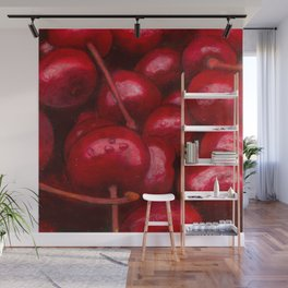 Cherries in the Shower, Cherries in bed Wall Mural