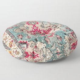 Heritage Farmhouse Style Traditional Oriental Moroccan Artwork Floor Pillow