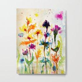 Hot summer meadow Metal Print