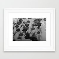 jelly fish Framed Art Prints featuring jelly fish by anjastensrud