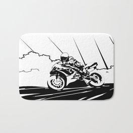 Motorcycle Race Bath Mat