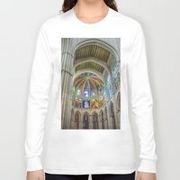 real madrid Long Sleeve T-shirts featuring Almudena Cathedral, Madrid by Svetlana Korneliuk