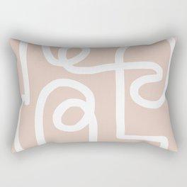 blush squiggle Rectangular Pillow