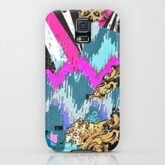 Fashion | Chic aztec pink teal zebra stripes leopard pattern Slim Case Galaxy S5