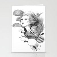 beethoven Stationery Cards featuring Beethoven by Wendy Ding: Illustration