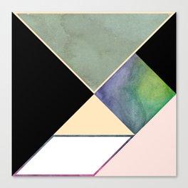 Tangram Square Three Canvas Print