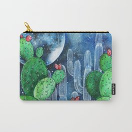 Cactus Nocturno Carry-All Pouch