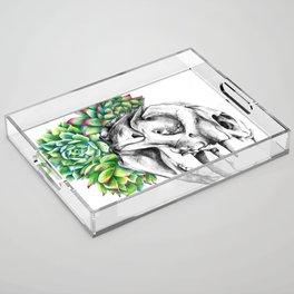 Rock Rose Cat Skull Acrylic Tray