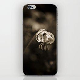 Grace a beautiful wildflower Turks Cap lily iPhone Skin