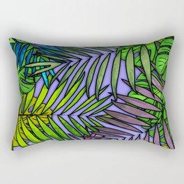 Palm & Monstera Leaves Rectangular Pillow