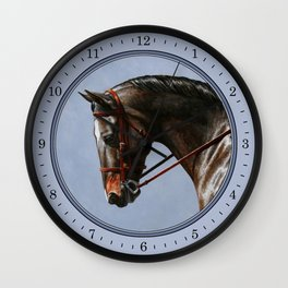 Bay Horse Wall Clocks Society6
