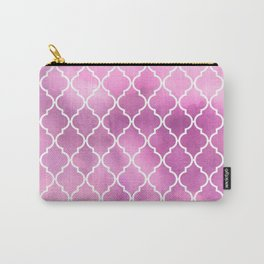 Moroccan Trellis, Latticework, Watercolors - Pink Carry-All Pouch