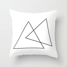 Double Triangles Throw Pillow
