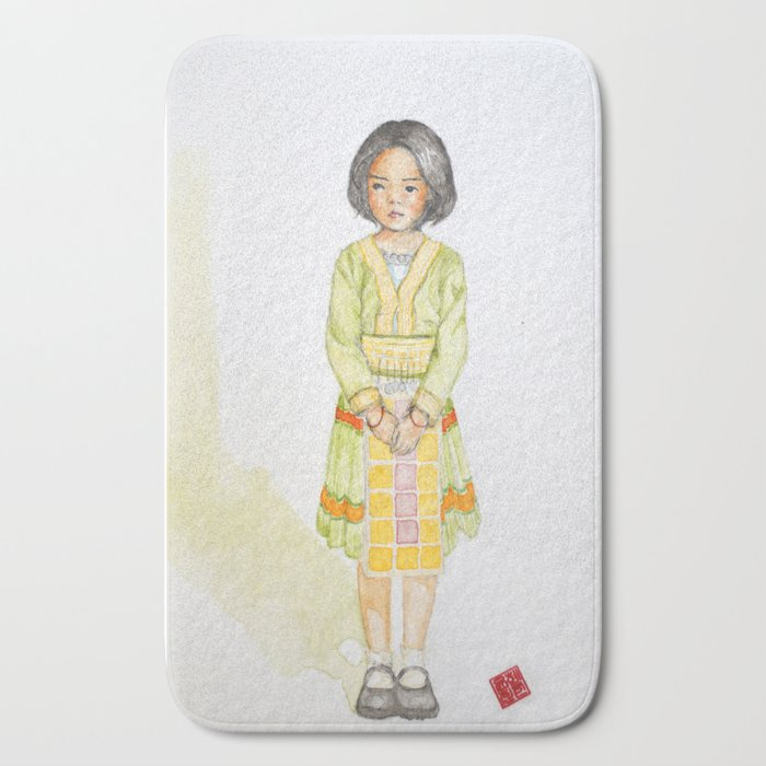 Hmong Girl At Ban Tung Sai School In Thailand Bath Mat By Smittenkit1 Society6