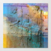 mythology Canvas Prints featuring Mythology by aeolia