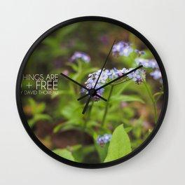 wild + free. Wall Clock