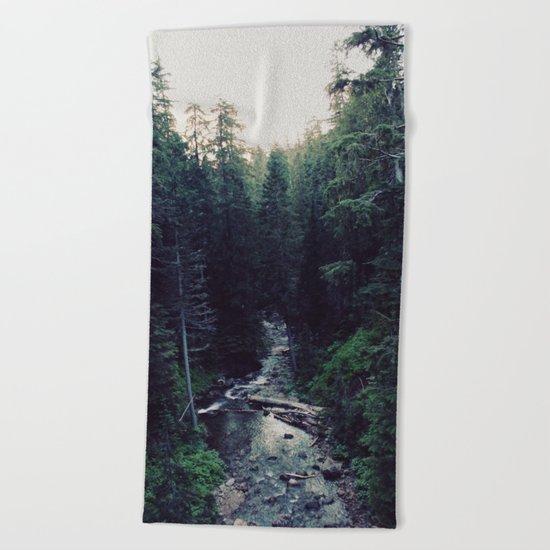 Oregon x Rainier Creek Beach Towel