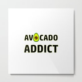 Avocado Addict Art Work Vegan | Gift Idea Metal Print