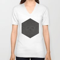dead space V-neck T-shirts featuring Dead Space by MRCRMB