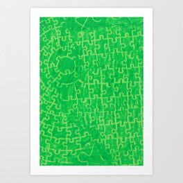 Life is a puzzle 14 Art Print